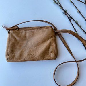 Margot New York Leather Small Crossbody Brown